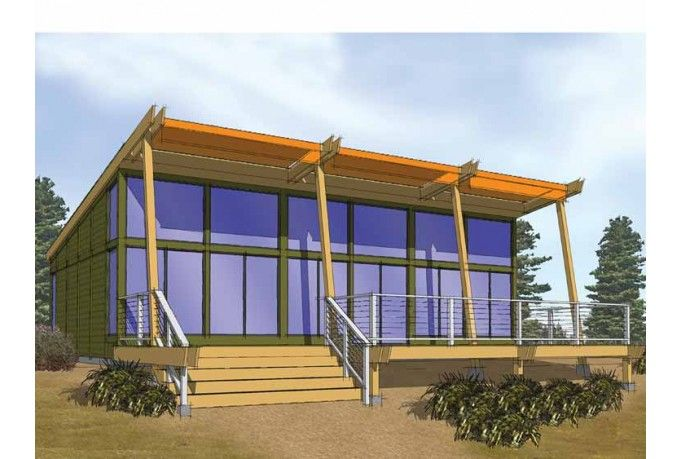 Contemporary Style House Plan 2 Beds 1 Baths 864 Sq Ft Plan 569 1 Modern Contemporary House Plans Shed House Plans Contemporary House Plans