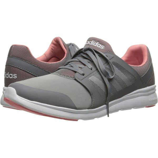 97660a503bf05 adidas Cloudfoam Xpression (Grey White Pink) Women s Running Shoes ( 45) ❤  liked on Polyvore featuring shoes