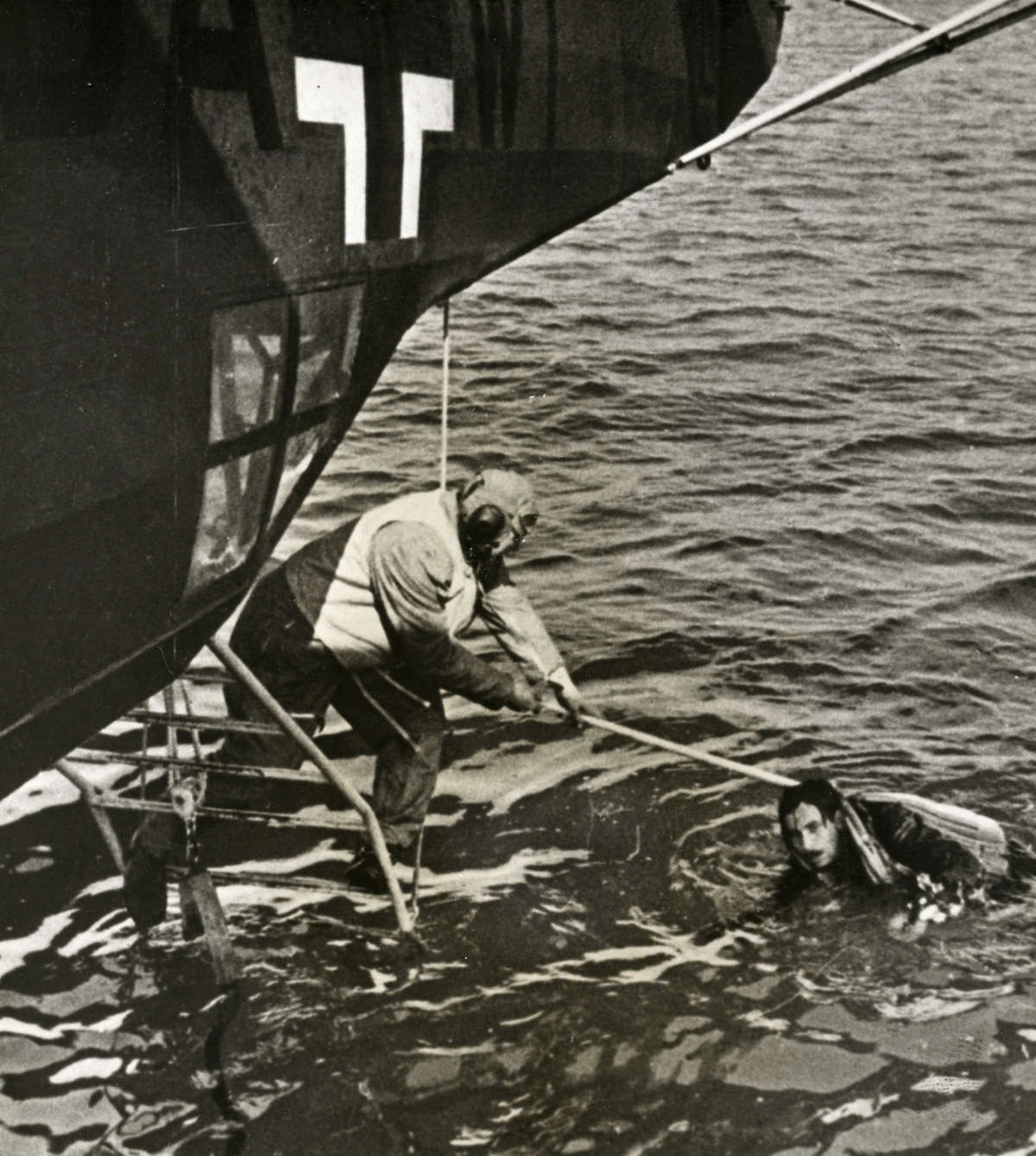 This photo appeared in Life magazine on Nov 9, 1940 -- more than a year before the US was at war with Nazi Germany. It shows the rescue of a Luftwaffe pilot by the crew of a German seaplane. Unidentied location. Seaplanes played a key role in SAR missions; save the times when the sea was too rough, a seaplane could easily touch the water and pluck survivors from its embrace.
