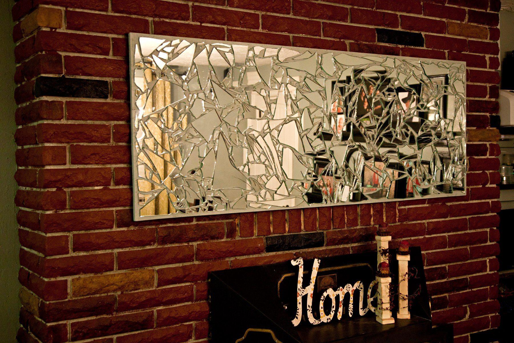 Broken mirror art wall art inspirations mirror wall