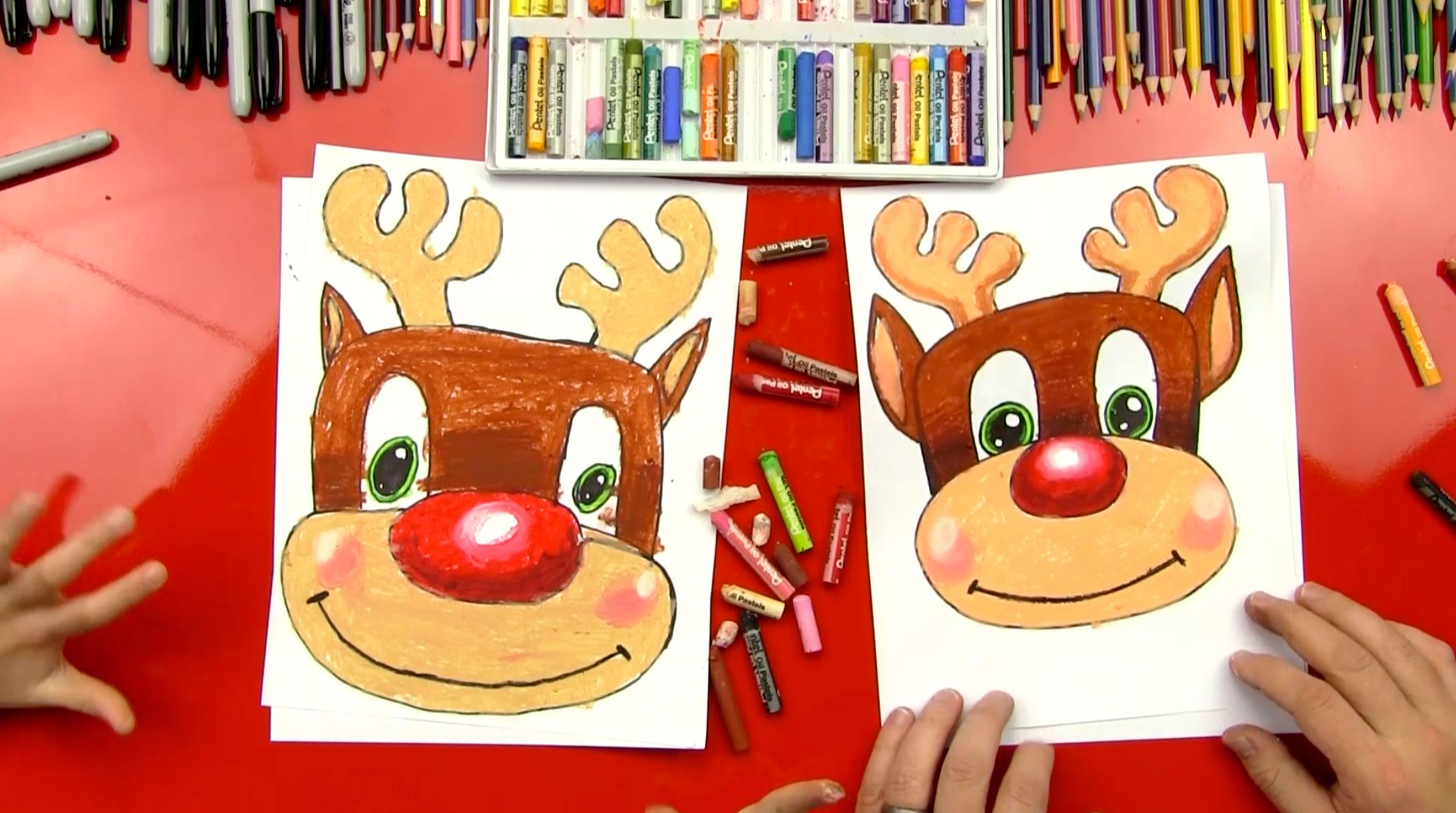 How To Draw Rudolph - Art For Kids Hub - | Art for kids hub, Christmas art for kids, Art for kids