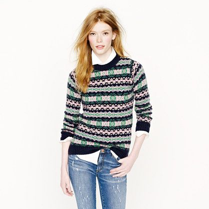 J.Crew. Harley of Scotland Fair Isle sweater | Christmas ...