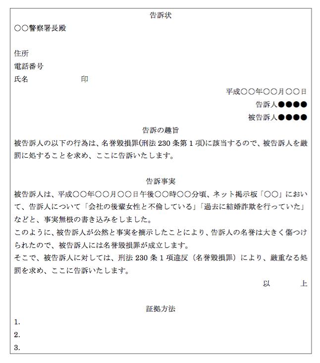 告訴状の書き方の2つのポイント【無料雛形ダウンロード可 ...