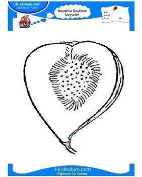 Cocuklar Icin Meyveler Incir Boyama Sayfasi 7 Kopya Jpg 282 352 Incir Faaliyetler Meyve