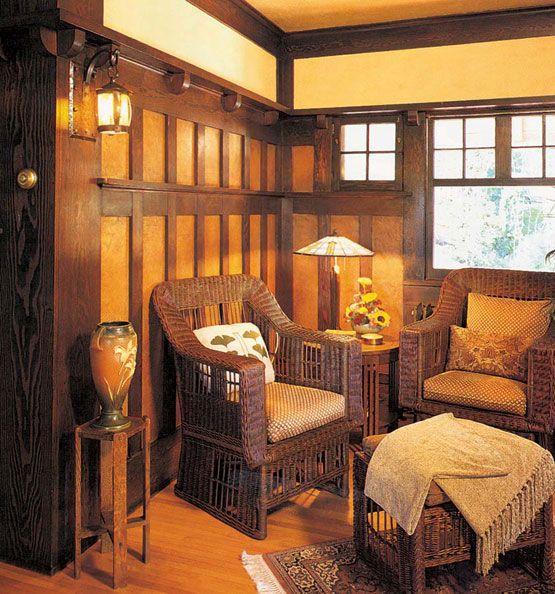 Wood Wainscot Revival Arts, crafts interiors, Craftsman