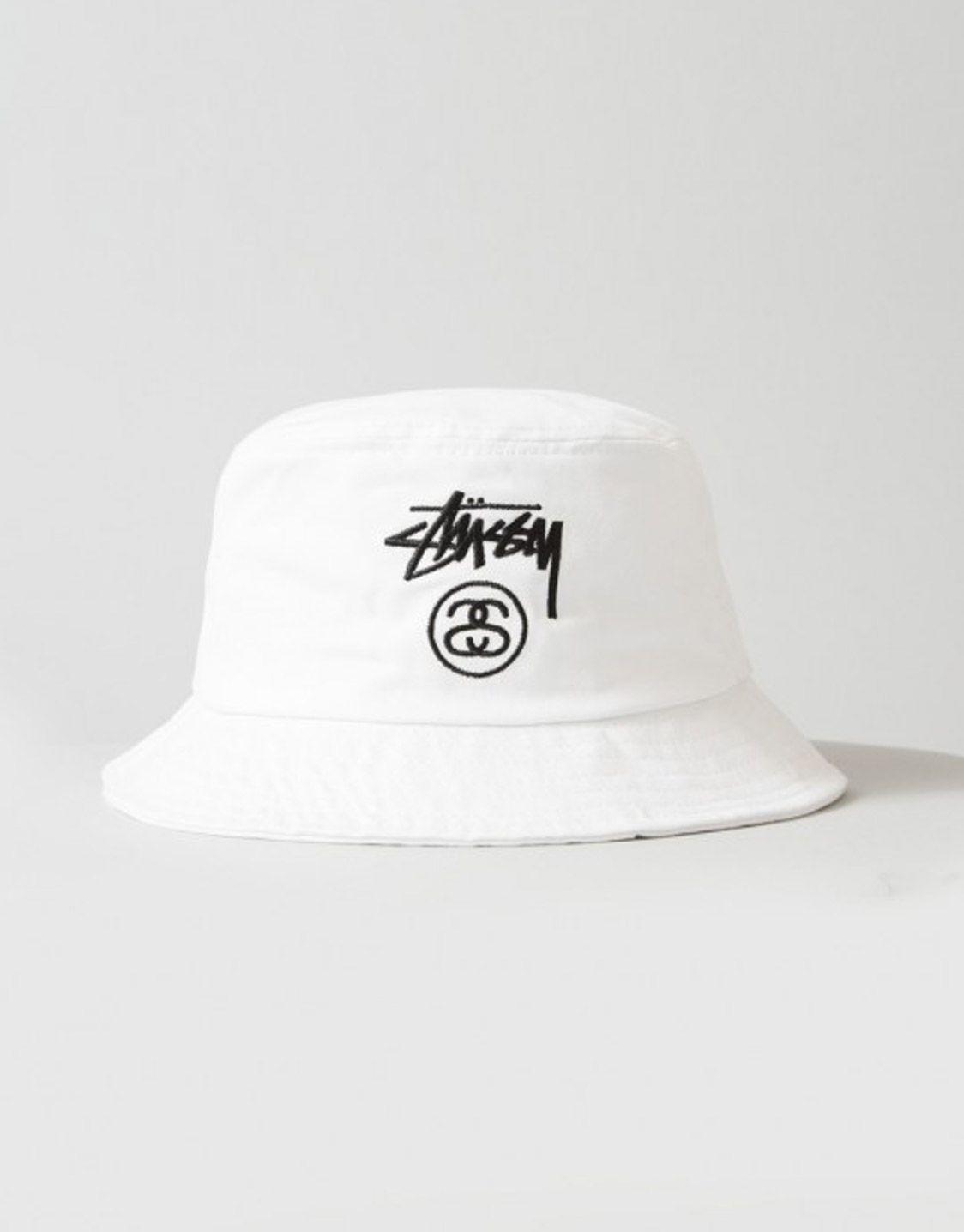 1b67137a4b2011 Stussy - Stock lock bucket hat white | fashion in 2019