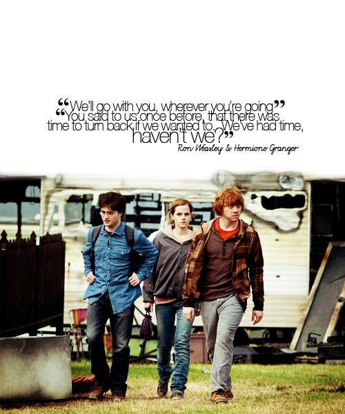 Harry Potter, Ron Weasley & Hermione Granger