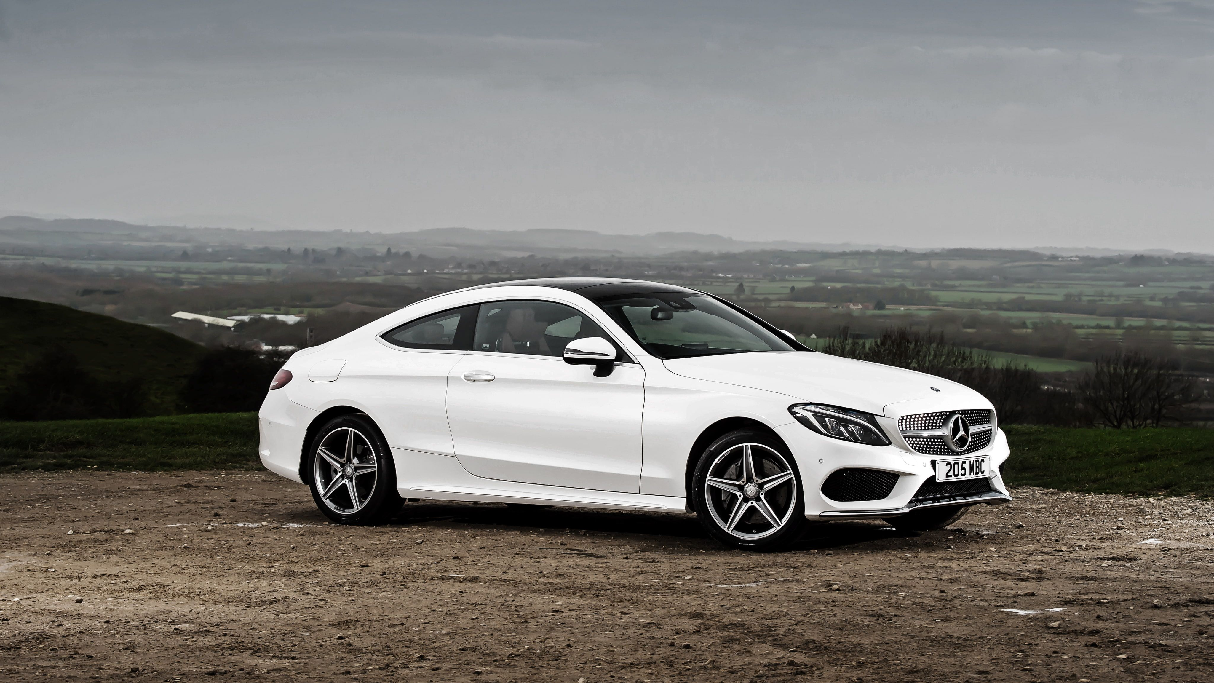White Mercedes Benz Mercedes Amg Coupe C Class C205 4k Wallpaper Hdwallpaper Desktop Mercedes C Class Coupe Mercedes Benz Cars Mercedes Benz Coupe