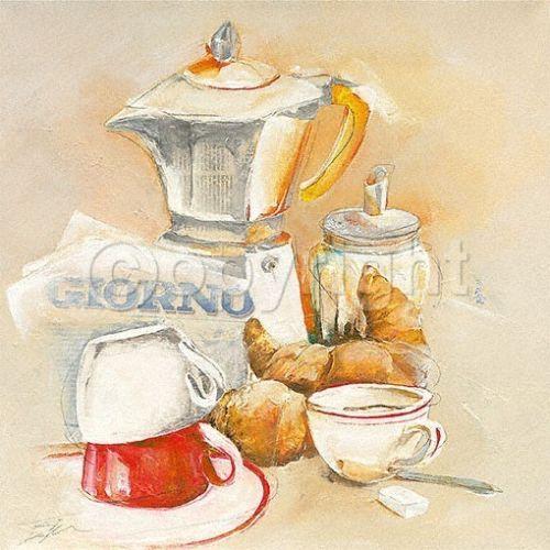 Elizabeth-Espin-Giorno-Fertig-Bild-17x17-Wandbild-Kueche-Cafe - wandbilder für die küche