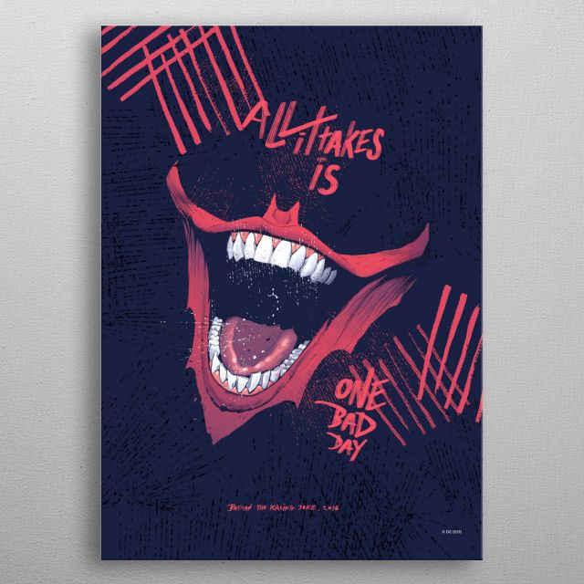 One Bad Day Geeky Poster Print metal posters Joker