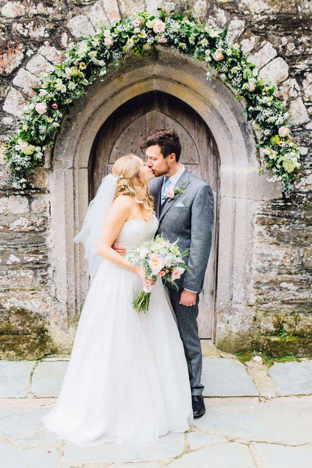 Pastel Wedding in Cornwall with Benjamin Roberts Bridal Gown | Asos ...