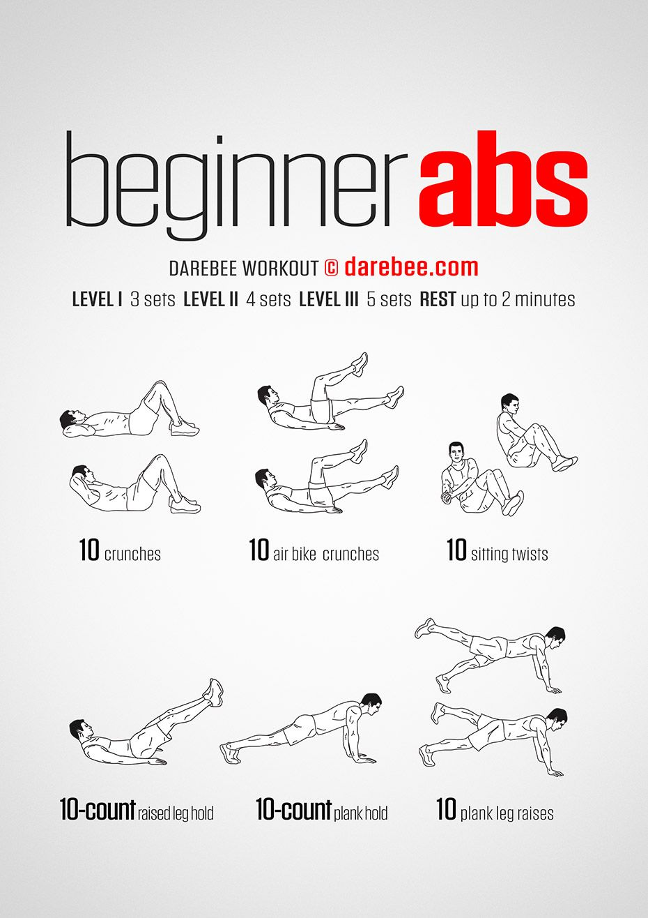 Beginner Abs Workout Floor Work Out Pinterest