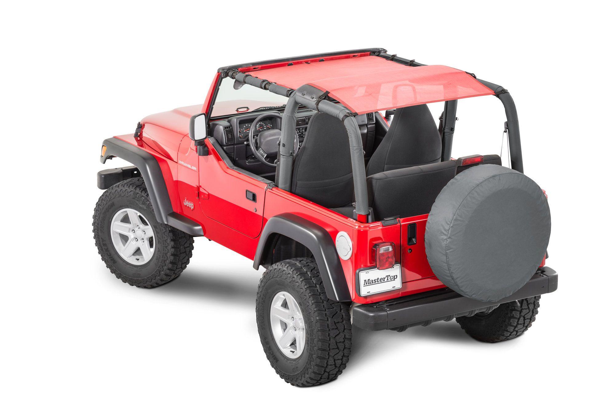 Jeep Bimini Top >> Mastertop Shademaker Bimini Top Plus For 92 06 Jeep Wrangler