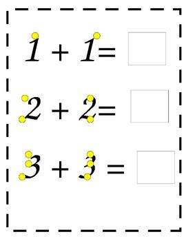 Touch Math Worksheets With Numbers 1 5 Touch Math Math Addition Math Addition Worksheets