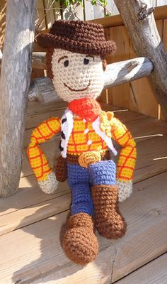 Woody pattern by Out of the Hope Chest #crochetdinosaurpatterns