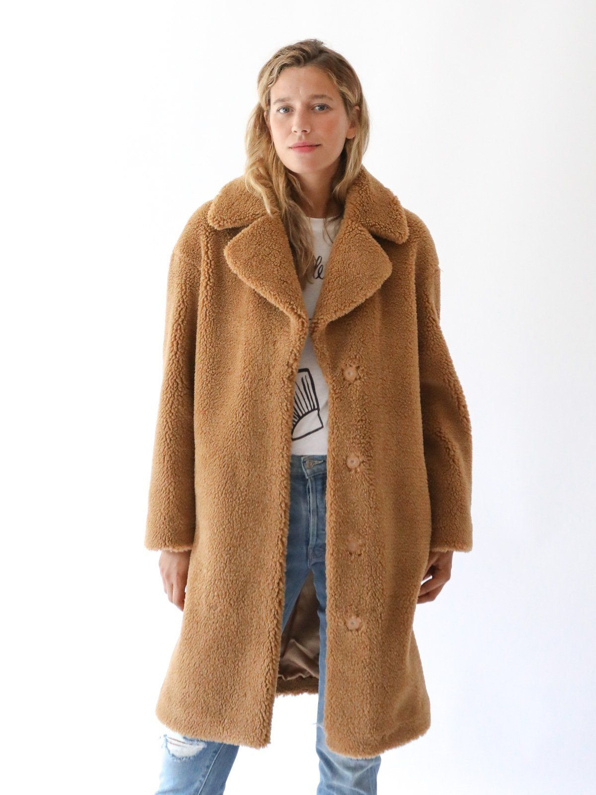 c8e8069c4453 STAND - Camille Cocoon Coat in Nougat | fall/winter 18 | Coat, Fur ...