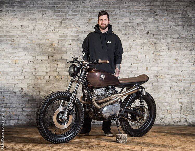 Our Bud Nick Petterson Of Motofied With His Brown Bomber KZ400 Which We