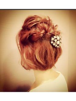 ☆CASITA☆簡単結婚式、パーティーショートミディアムアレンジ