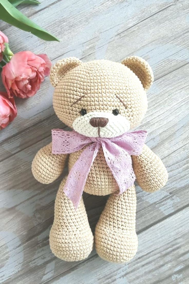 FREE crochet bear pattern #crochetbearpatterns