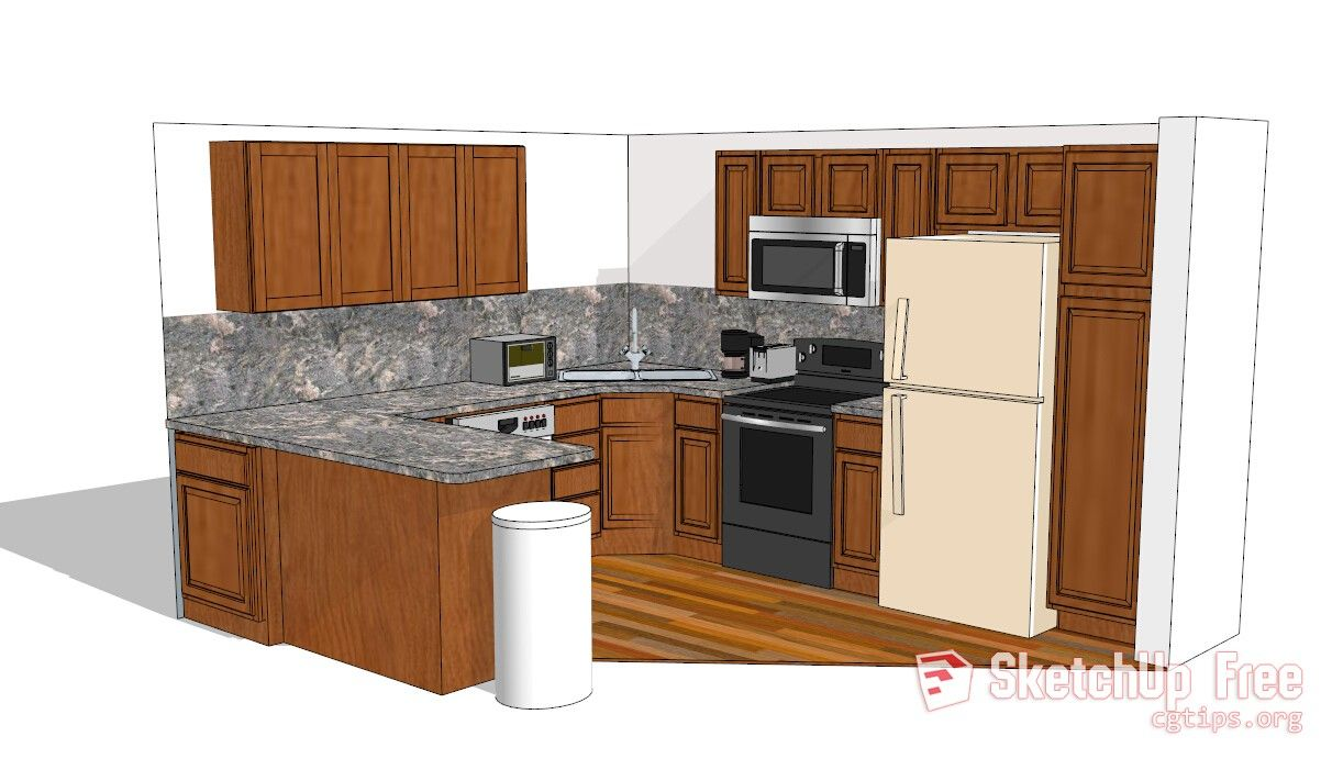1142 Kitchen Sketchup Model Free Download Sketchup Model Kitchen Model