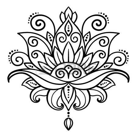 Lotus Flower Tattoo Designs Vector Abstract Oriental Style