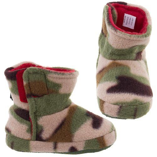 ee339a3491d05 Green Camo Bootie Style Slippers for Toddler Boys S/4-5 Cap 3. $14.50