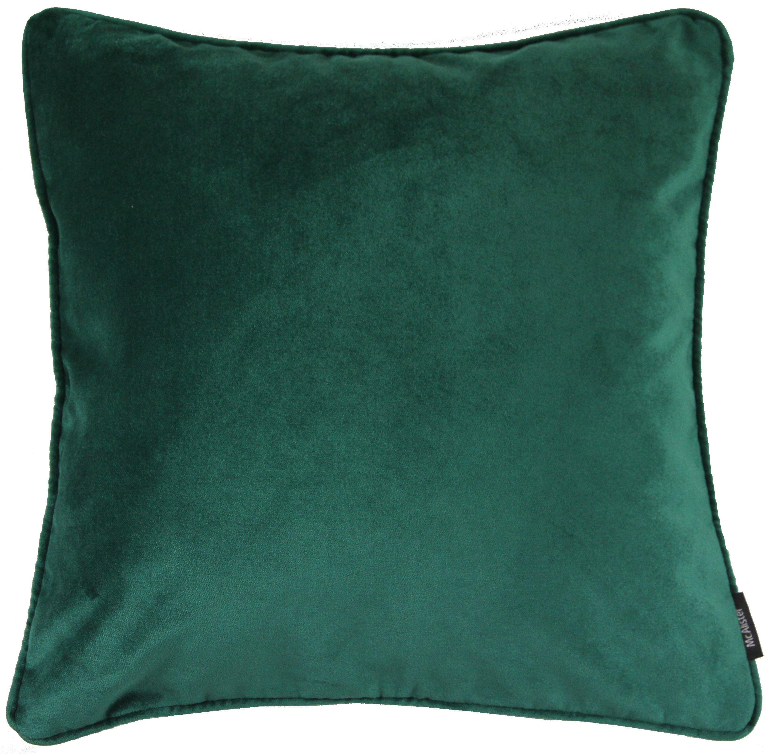 Emerald Green Velvet Decorative Pillow