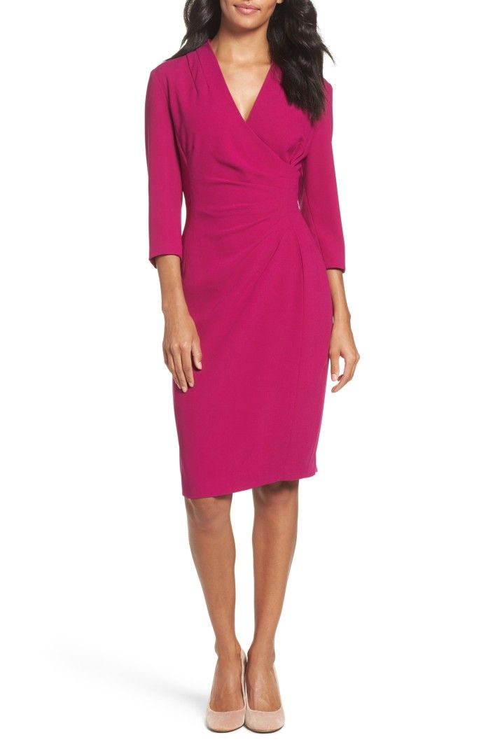 Main Image - Tahari Crepe Sheath Dress (Regular & Petite) | clothes ...