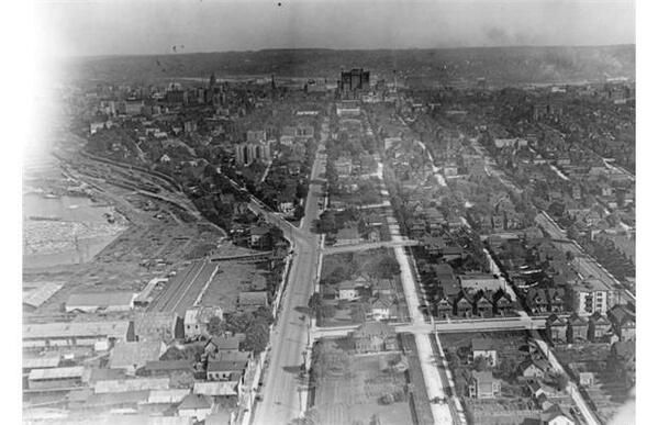 First aerial photos of Vancouver, Georgia Street
