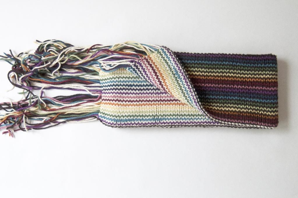 Double Rainbow Scarf via Craftsy | Scarf knitting patterns ...