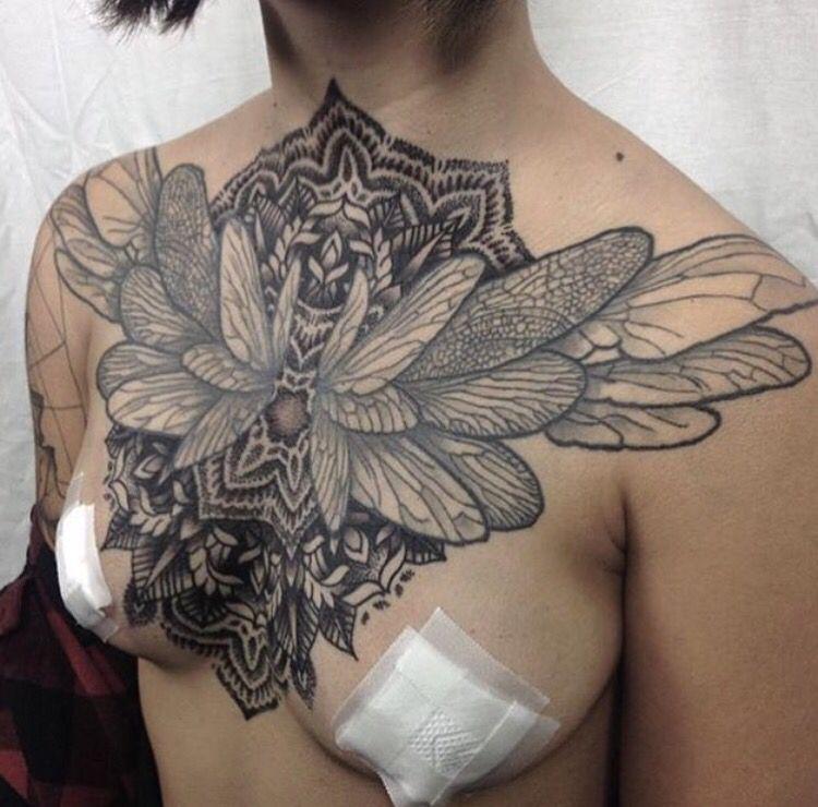 Chestpiece chest underboob pieces pinterest tattoo for Chest piece tattoos female