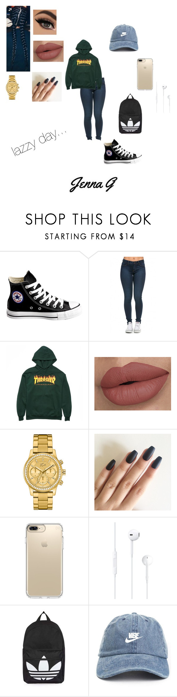 """""""lazzy day!!♢"""" by iamjennagarcia on Polyvore featuring Converse, Lacoste, Speck and Topshop"""