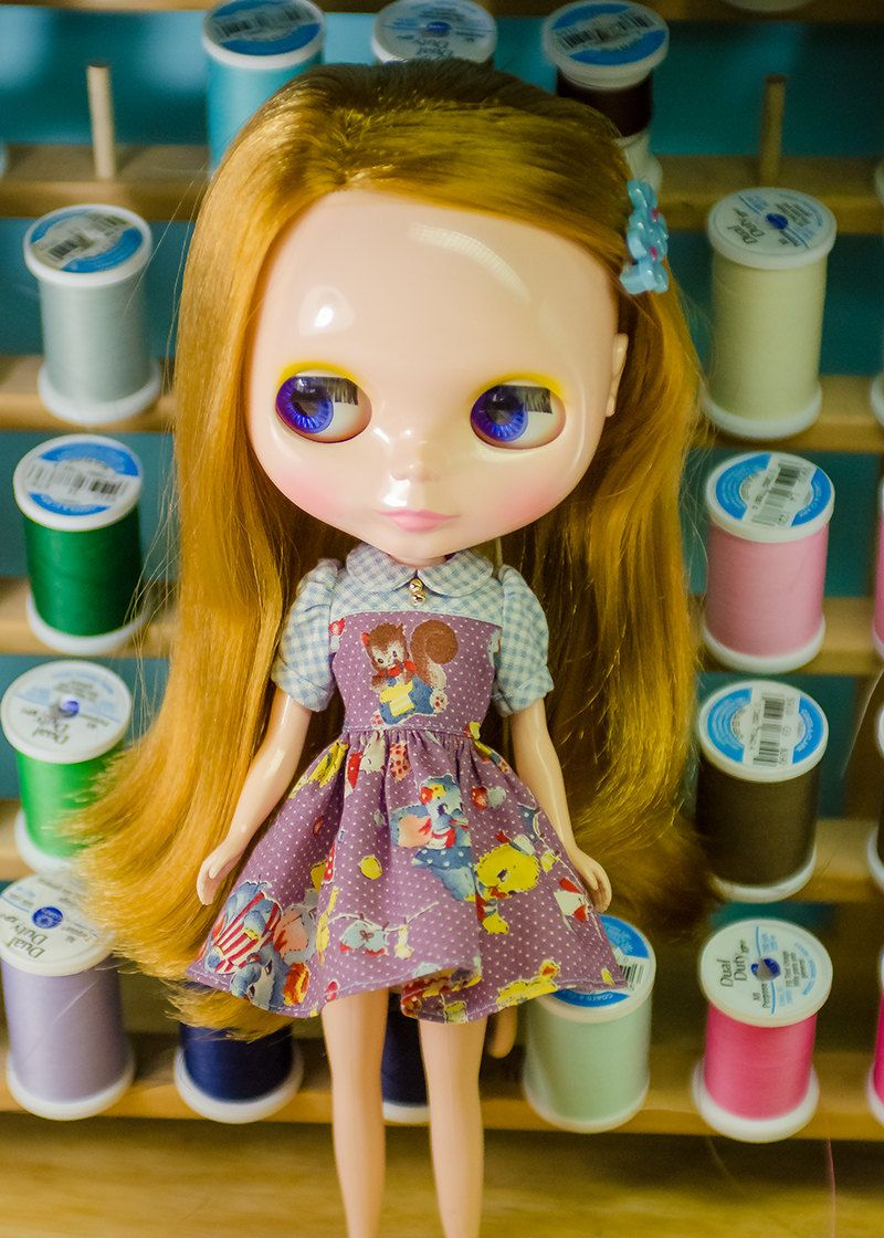 Plastic Fashion Blythe Dress Retro Laundry Day By Plasticfashion