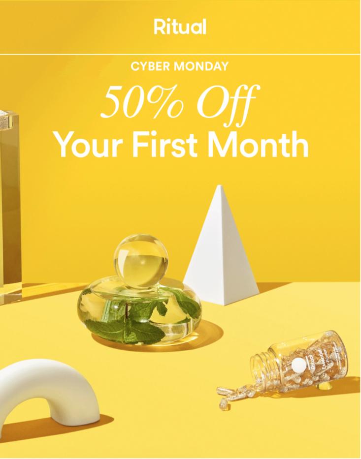 Ritual Vitamins Cyber Monday Sale Save 50 Off Your First Month Ritual Vitamins Olly Vitamins One Month