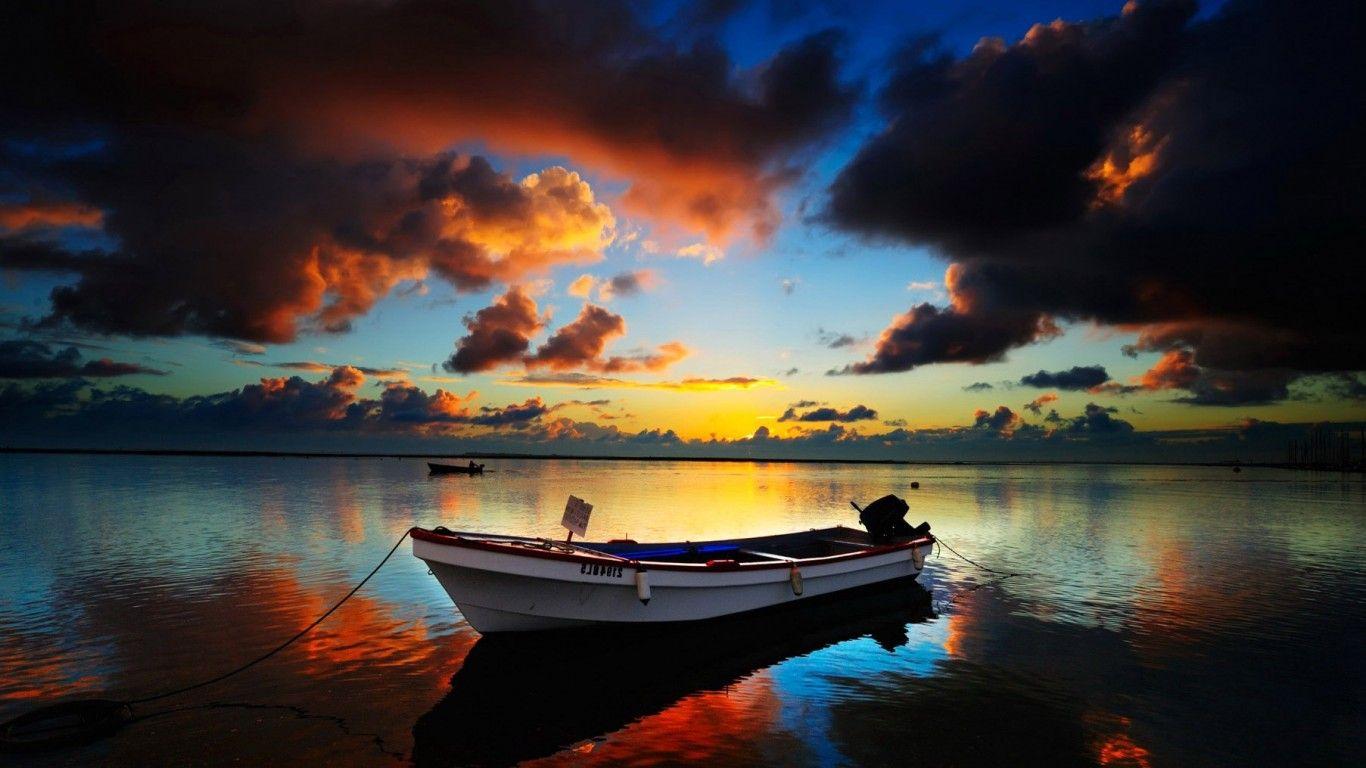 Dark Sunset Hd Dark Sunset Hd Sea Wallpapers Ocean Sky Beautiful Places Holiday Ship Wallpaper Sunset Wallpaper Boat In Water
