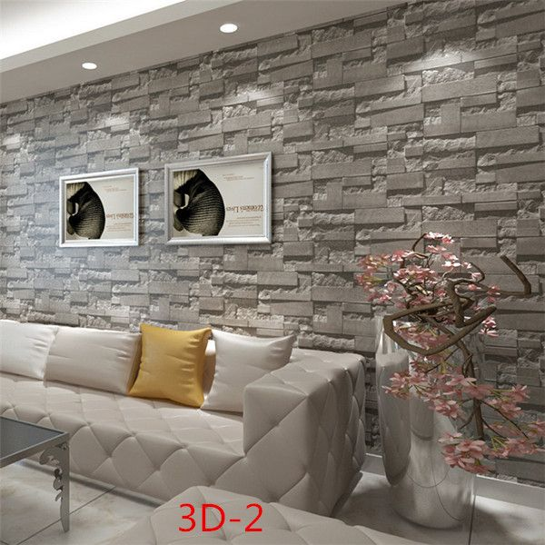 Chinese Retro Brick Wallpaper 3d Background Pvc Wallcovering Living Room Bedroom Hallway Roll