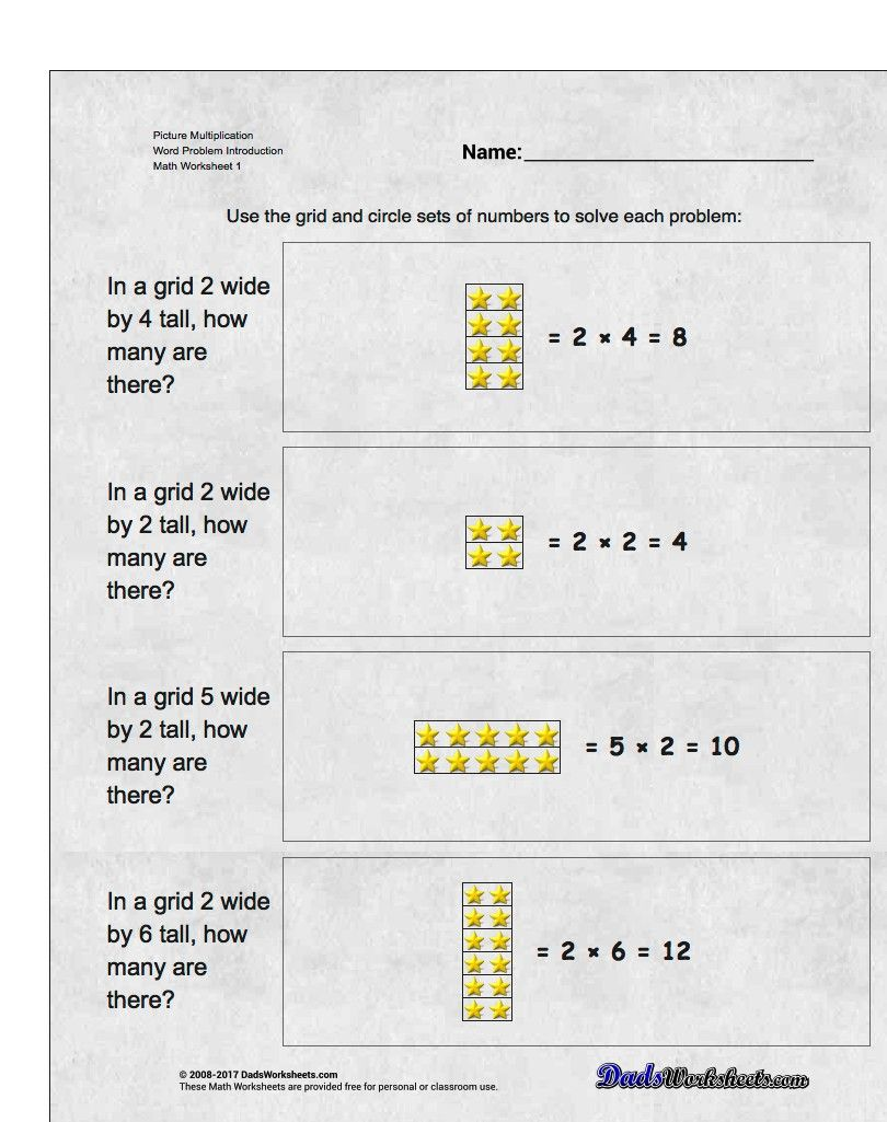 Introductory Worksheets Using Pictures And Grouping To Build A Conceptual Understanding Of Multi Multiplication Math Multiplication Master Multiplication Facts [ 1025 x 810 Pixel ]