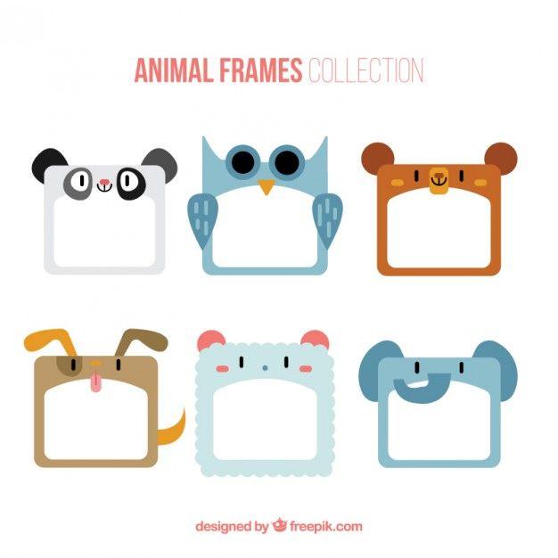 Coleção de quadros animais agradável   Etiquetas, Selvas y Maestros ...