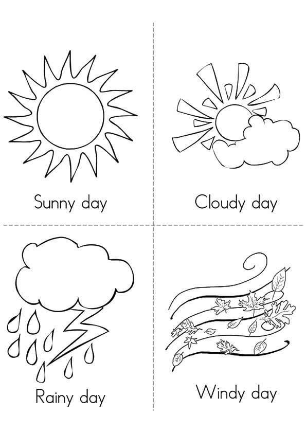 10 Amazing Weather Coloring Pages For Your Toddler Weather Crafts Weather Crafts Preschool Weather Symbols For Kids