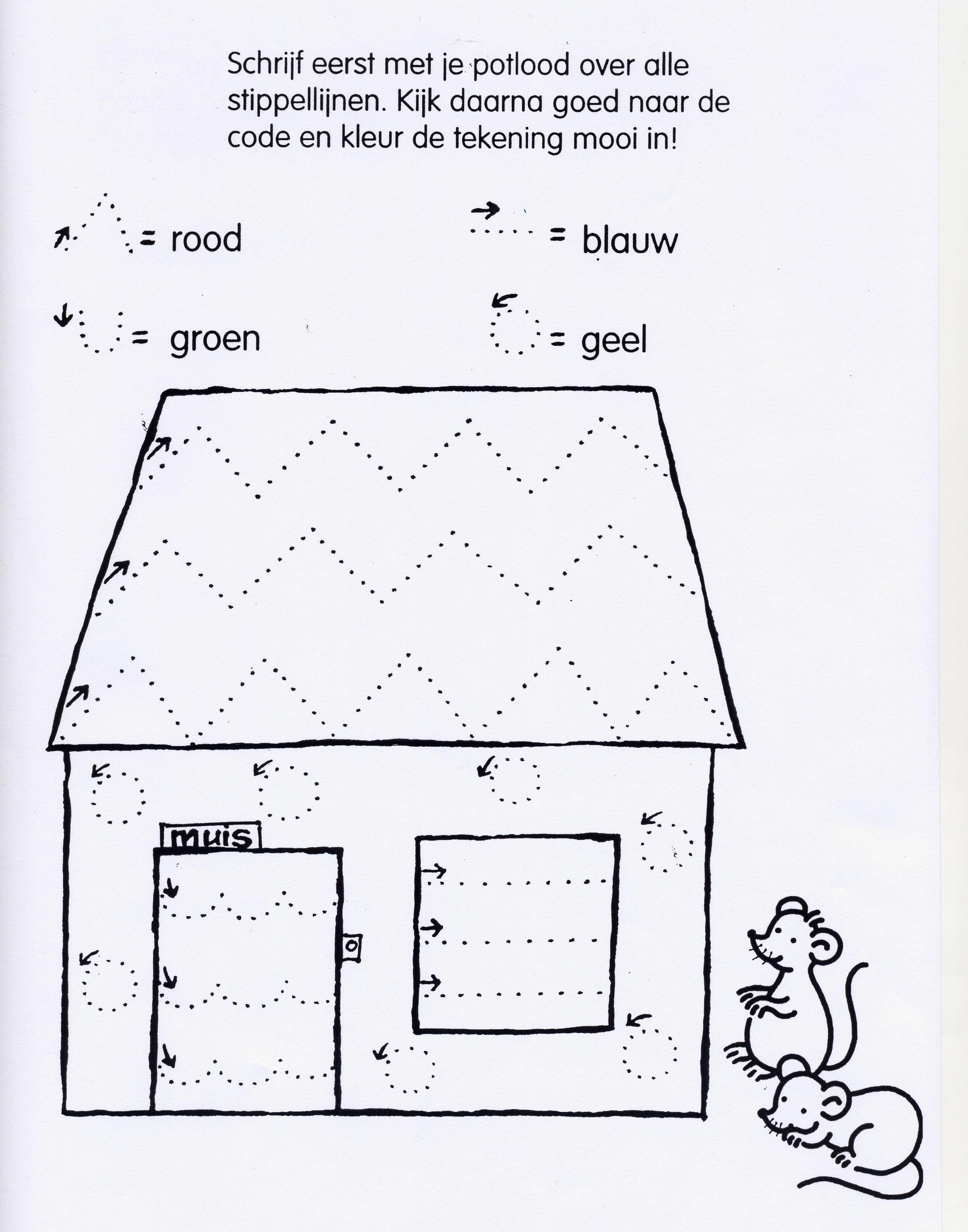Kids At Work Worksheet Is Fijne Motoriek Huis Mouse