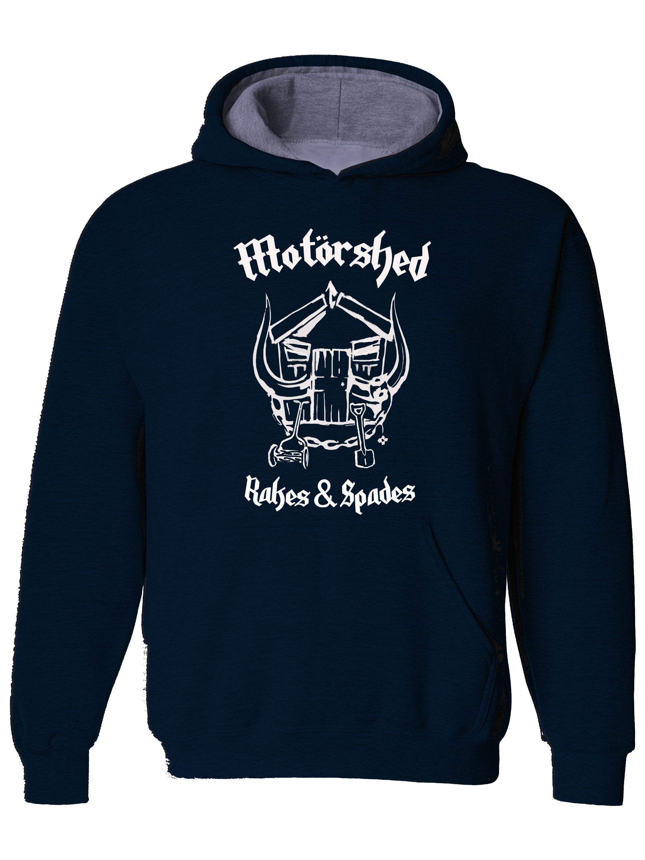 cool MOTORSHED- Middle Age Rock n' Roller- Funny Mens Hoodies From FatCuckoo