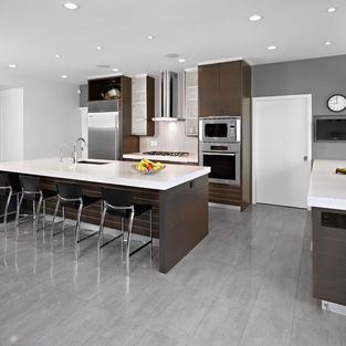 Best Dark Grey Floor Tile Modern Kitchen Design Kitchen 400 x 300