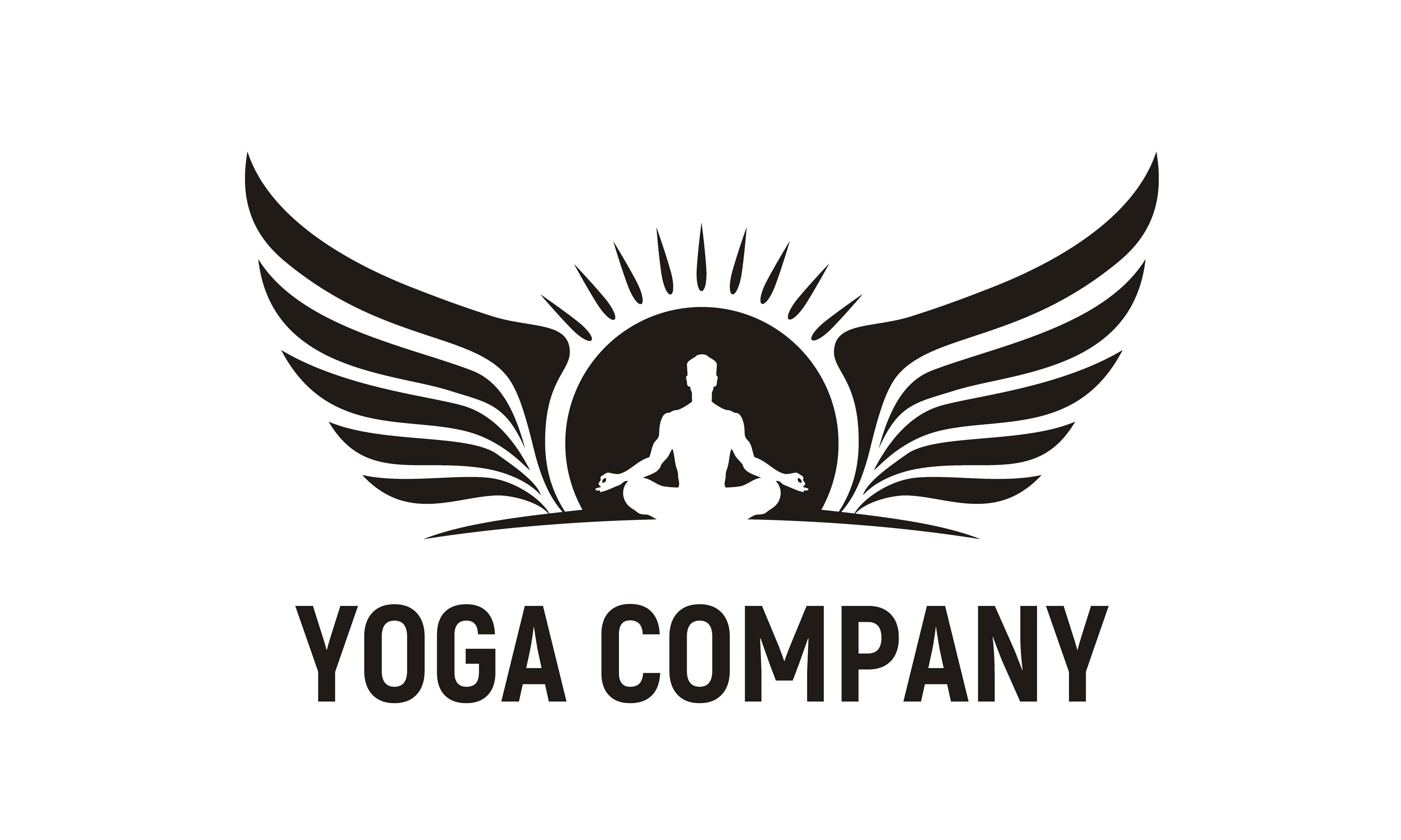 Meditation Man Yoga Sun Wings Logo Graphic By Enola99d Creative Fabrica Spiritual Logo Graphic Design Logo Template Logo