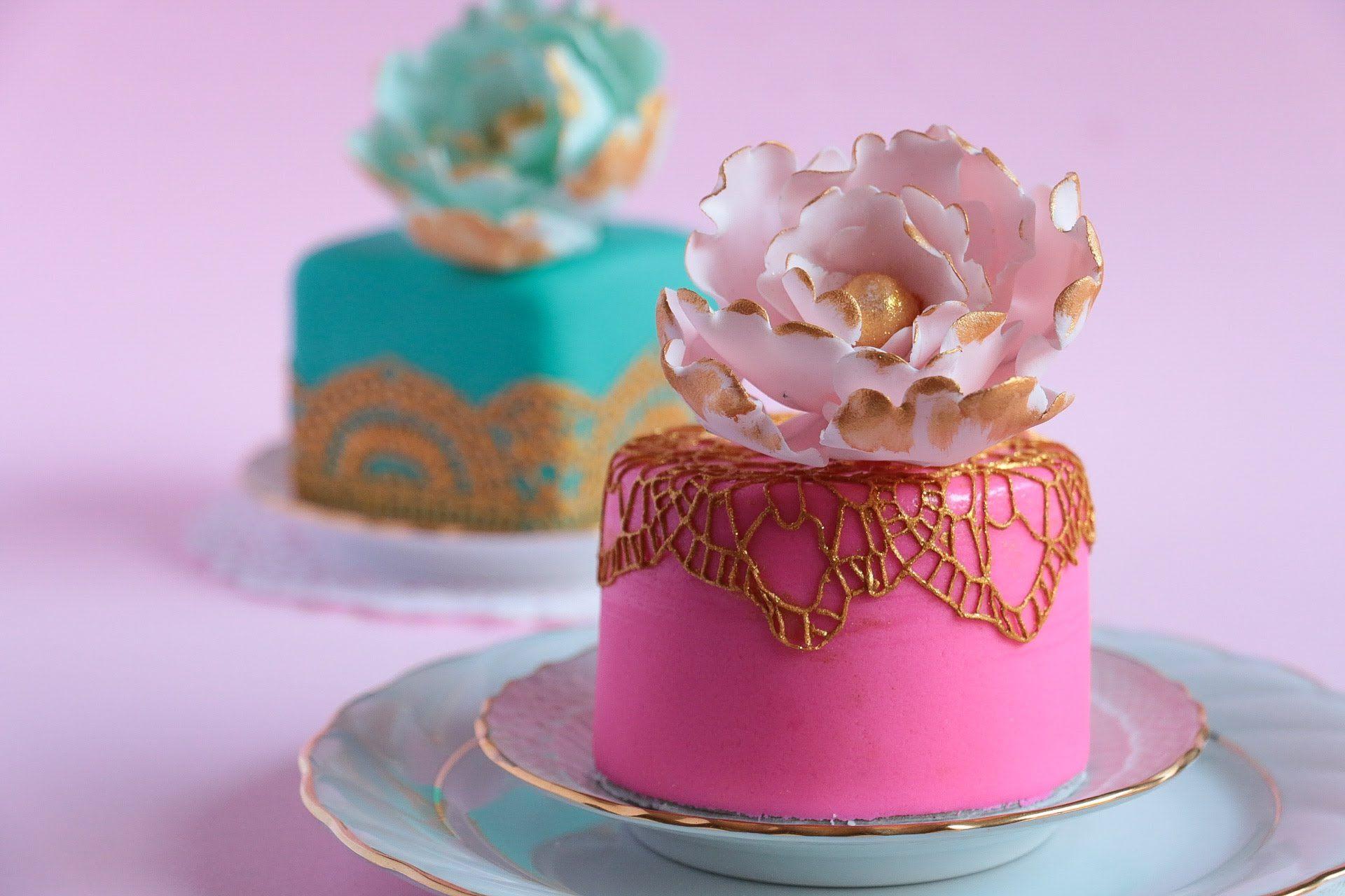 How To Make Mini Fondant Cakes Mini Cakes Tutorial Cake Mini Wedding Cakes
