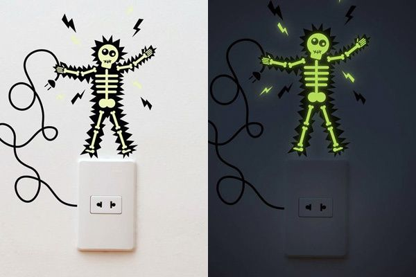 Gecko Stickers Glow In The Dark Wall Decals
