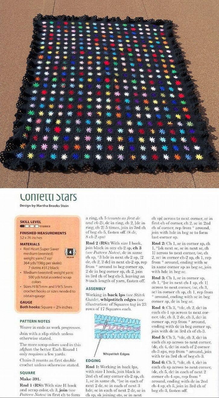 Confetti Stars afghan | crochet | Pinterest | Croché, Ganchillo and ...