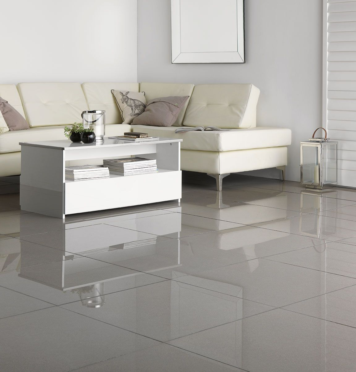 Polished Porcelain Grey Wall Tile 60 X 60cm Tile
