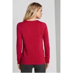 Photo of Tom Tailor Damen Pullover mit V-Ausschnitt, rosa, unifarben, Gr.xs Tom TailorTom Tailor