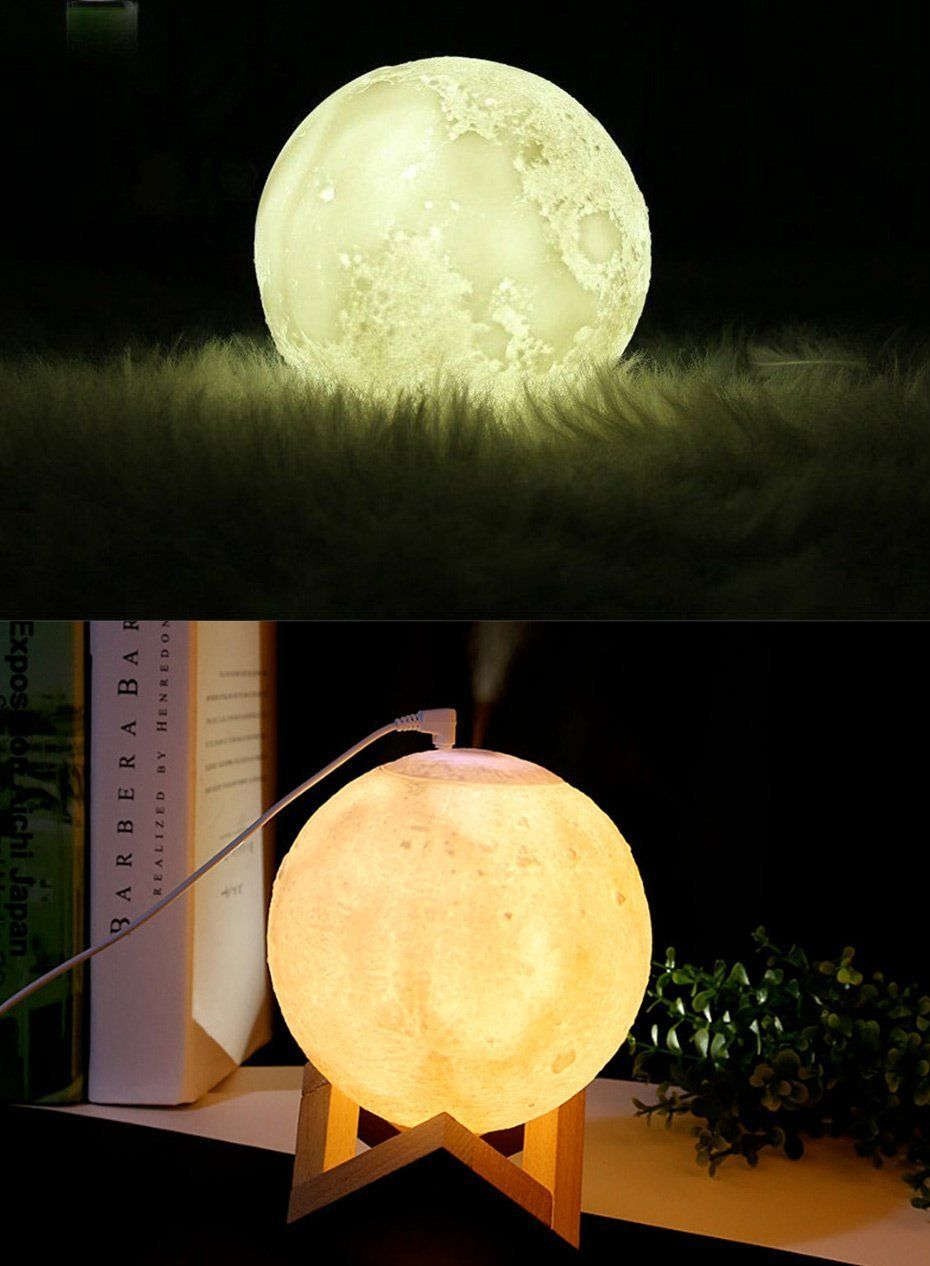 Luna Mist Air Humidifier Moon Lamp Essential Oil Diffuser Lively Focus Humidifier Essential Oils Essential Oil Diffuser Oil Diffuser