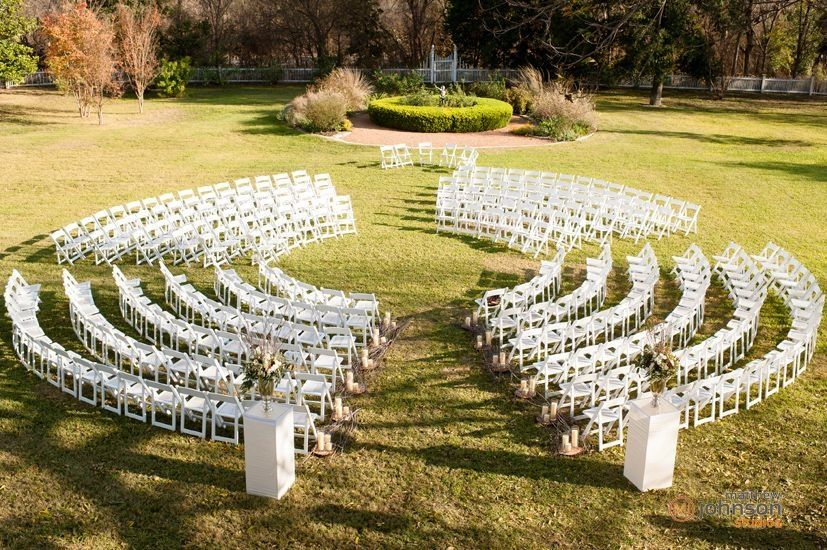 Full Circle Ceremony Seating Barr Mansion Wedding And Event Venue In Austin Tx Certified Organic Al Loft Wedding Ceremony Barr Mansion Wedding Barr Mansion